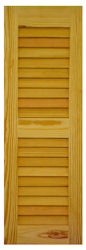 Custom Open Louvered Wood Exterior Shutters