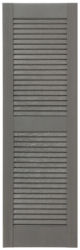 Custom Open Louvered Exterior Shutters