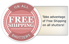 Free Shipping on All Shutters