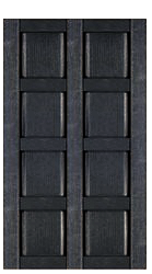 Custom Classic Panel Double Wide Exterior Shutters