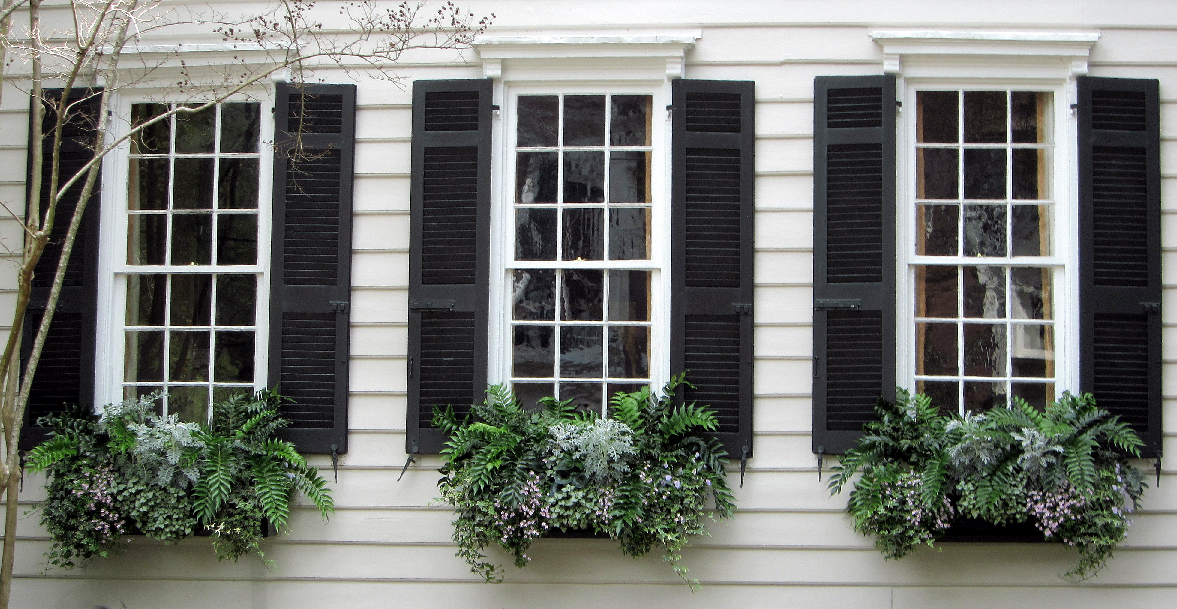 Outside Window Shutters - Custom Exterior Shutters