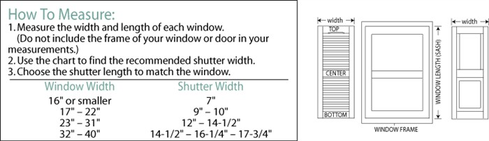 Measuring Your Window - Custom Exterior Shutters